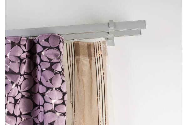 Binari Per Tende A Soffitto : Gardinenstange 32x12mm rechtwinklig gebürsteter aluminium an der