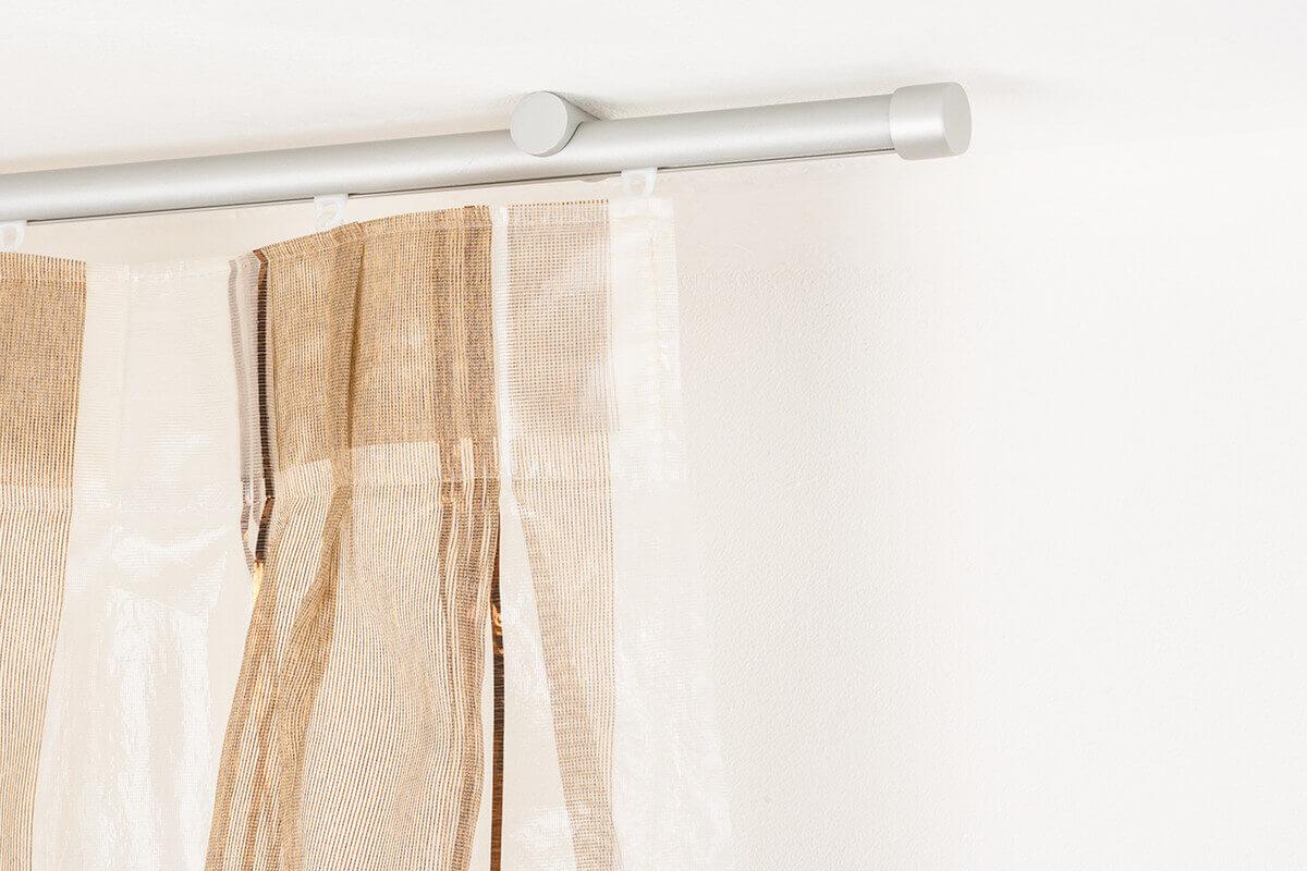 Binari Tende A Soffitto : Gardinenstange Ø mm gebürstetes aluminium die halterungen kônnen