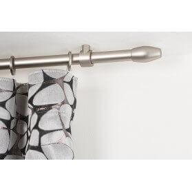 Binario per Tende in Alluminio laccato bianco 32x12mm con Supporto a Parete