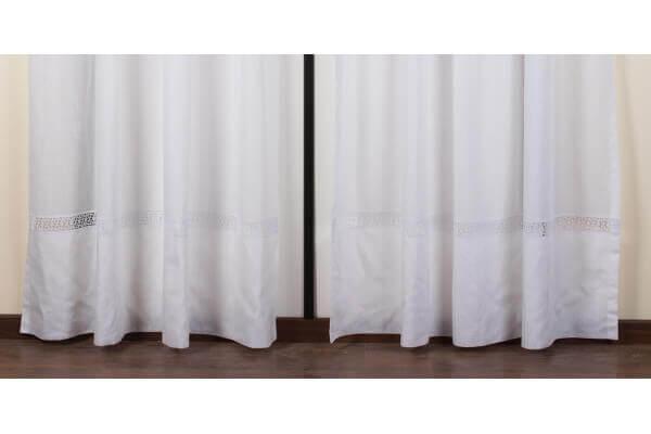 die gardine besteht 160x290cm stoff lopez farbe wei archema. Black Bedroom Furniture Sets. Home Design Ideas