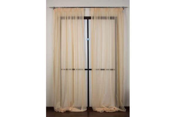 die gardine besteht 160x295cm stoff alcea farbe gelb archema. Black Bedroom Furniture Sets. Home Design Ideas