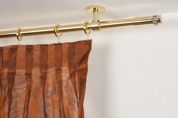 Bastoni Tende A Soffitto : Bastone per tende in ottone con supporto a soffitto archema