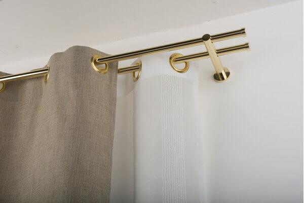 Küchenutensilienhalter Wand ~ gardinenstange u00d8 20mm gebürsteter glanz messing die