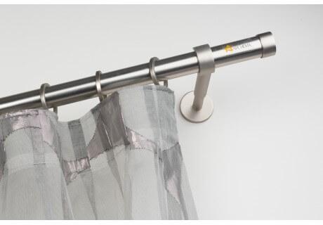 Bastoni Tende A Soffitto : Bastone per tende in acciaio satinato Ø mm con supporto a parete