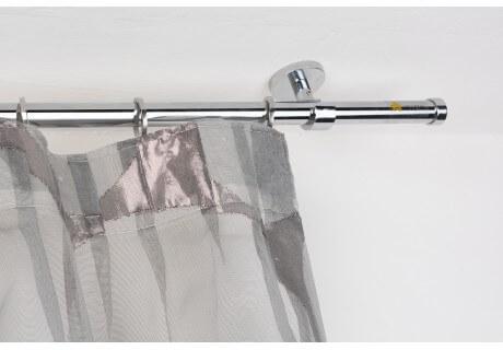 Bastoni Tende A Soffitto : Bastone per tende in acciaio cromato lucido Ø mm con supporto a