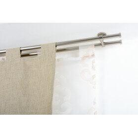 Tenda composta da 2 Teli 160x295cm in Tessuto VaniaB (bianco)