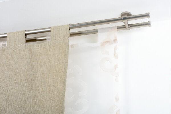 Bastoni Tende A Soffitto : Bastone per tende in acciaio satinato Ø mm con supporto a