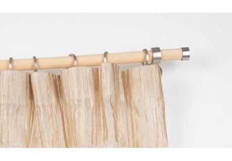 Bastone per Tende in Legno Ø 28mm con Supporto a Parete