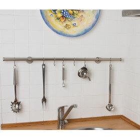 PortaUtensili da cucina in Acciaio Satinato Ø 20mm
