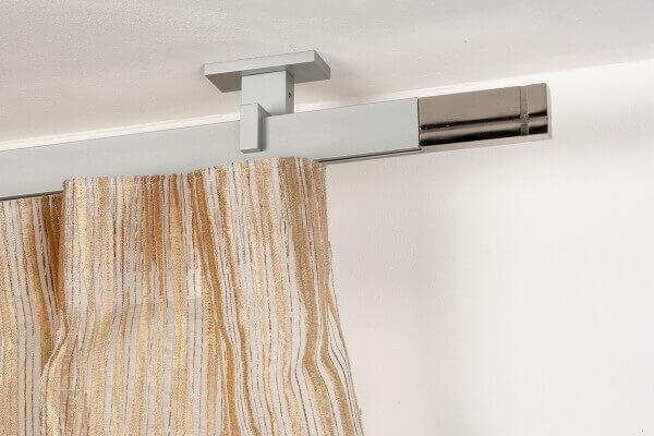 Binari Per Tende A Soffitto : Gardinenstange mm rechtwinklig gebürsteter aluminium an der