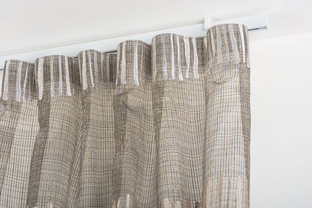 Binari Tende A Soffitto : Gardinenstange mm aluminium weiß lackiert die halterungen